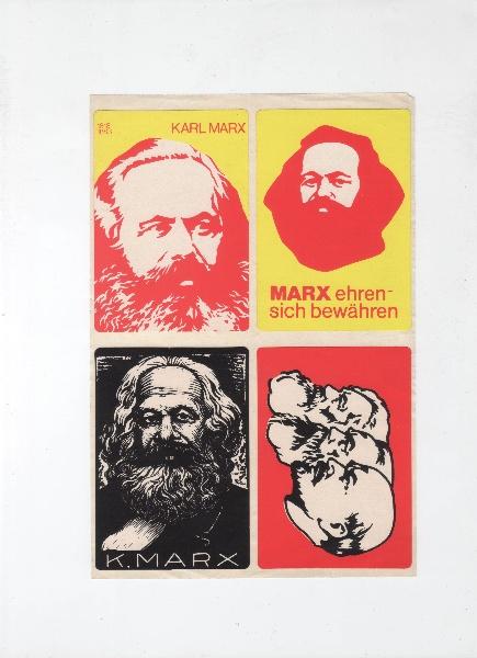 DDR Karl Marx original Aufkleber 1983