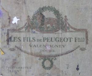 Peugeot Modellprogramm 1909 Originaprospekt
