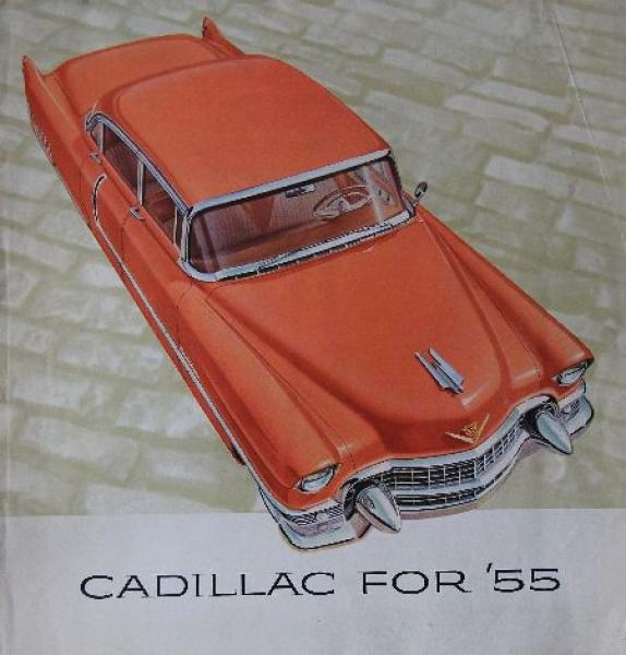 Cadillac Modellprogramm 1955 Automobilprospekt