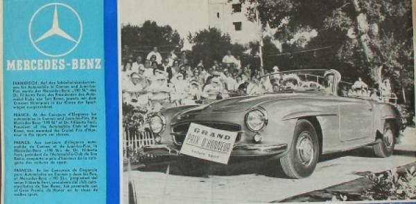 Mercedes Benz in aller Welt 1952 Automobilprospekt