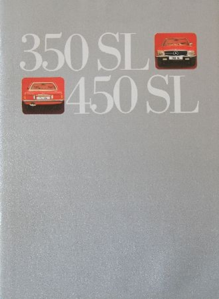 Mercedes Benz 350SL-450 SL 1971 Automobilprospekt