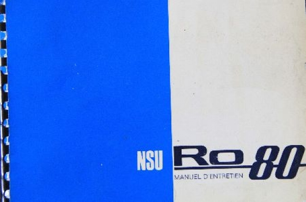 NSU RO 80 Betriebsanleitung 1967