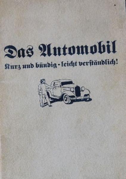 Opel Betriebsanleitung 1934