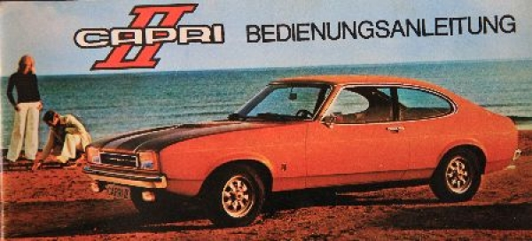 Ford Capri II Betriebsanleitung 1974