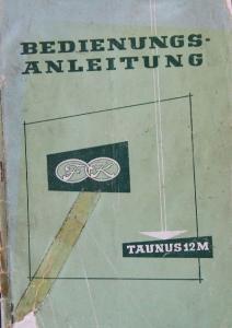 Ford Taunus 12 M 1959 Betriebsanleitung