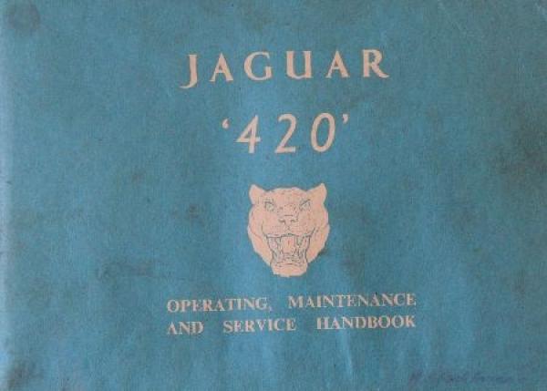 Jaguar 420 Betriebsanleitung 1966