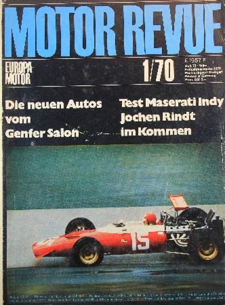 """""""Motor Revue"""" Zeitschrift 1970"""