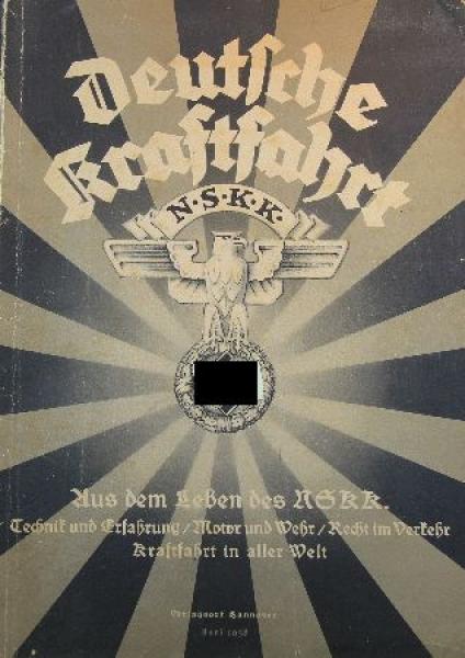 """""""Deutsche Kraftfahrt"""" NSKK-Zeitschrift 1938"""