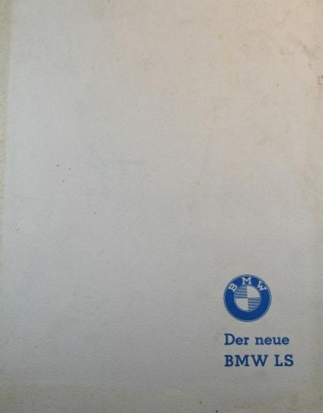 """BMW """"Der neue LS"""" Automobil-Pressemappe 1959"""