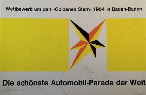 """""""Die schönste Automobilparade der Welt"""" Automobil-Wettbewerb Baden-Baden 1964"""