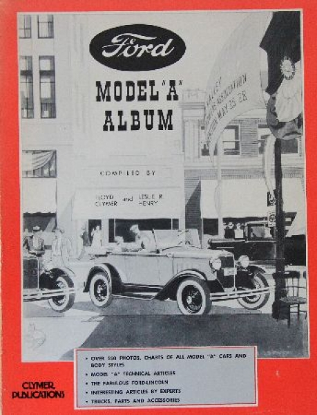 """Clymer """"Ford Model A Album - All Cars and Bodystyles """" Ford-Historie 1977"""