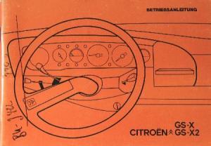 Citroen GS Betriebsanleitung 1972