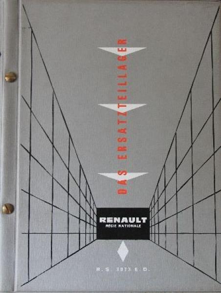 """Renault """"Das Ersatzteillager"""" Renault-Händlerhandbuch 1958"""