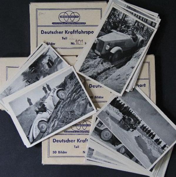 """""""Deutscher Kraftfahrsport"""" Motorsport-Sammelbilder zu Band II in Mappen 1939"""