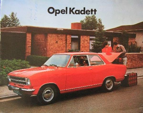 Opel Kadett Modellprogramm 1972 Automobilprospekt