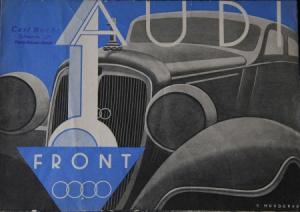Audi Front Modellprogramm 1935 Automobilprospekt