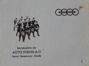 """Auto-Union Einladungskarte """"Zum Kameradschaftsabend"""" 1939"""