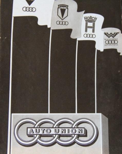 Auto-Union Modellprogramm 1939 Automobilprospekt