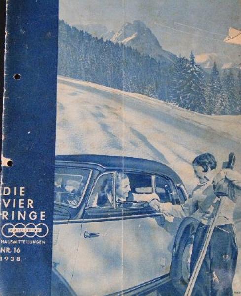 """Auto-Union """"Die vier Ringe"""" Firmenmagazin 1938"""