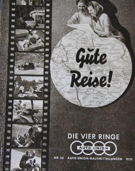 """Auto Union """"Die vier Ringe"""" Firmenmagazin 1939"""