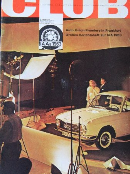 """""""Auto-Union Club"""" Firmenmagazin 1963"""