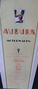 Auburn Motorwagen Modellprogramm 1929 Automobilprospekt