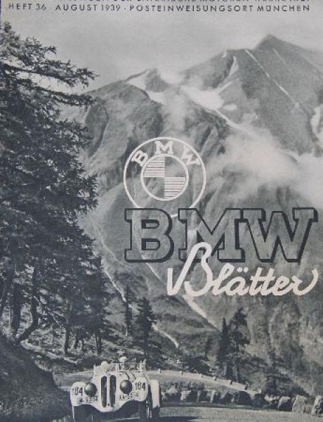 """""""BMW Blätter"""" Firmenmagazin 1939"""