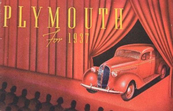 Plymouth Modellprogramm 1937 Automobilprospekt