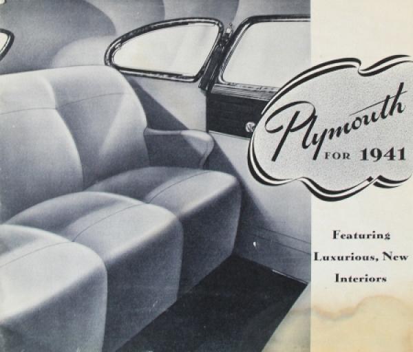 Plymouth DeLuxe Modellprogramm 1941 Automobilprospekt