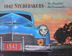 Studebaker Modellprogramm 1942 Automobilprospekt