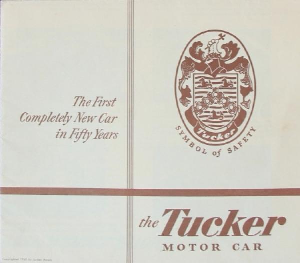 Tucker Torpedo Modellprogramm 1947 Automobilprospekt