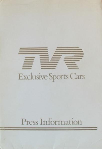 TVR 350i Pressemappe 1985 Automobilprospekt