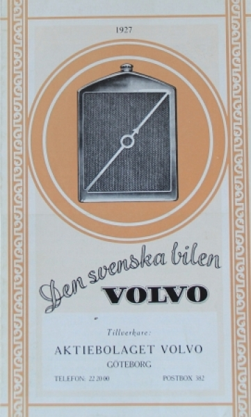 Volvo Modellprogramm 1927 Automobilprospekt