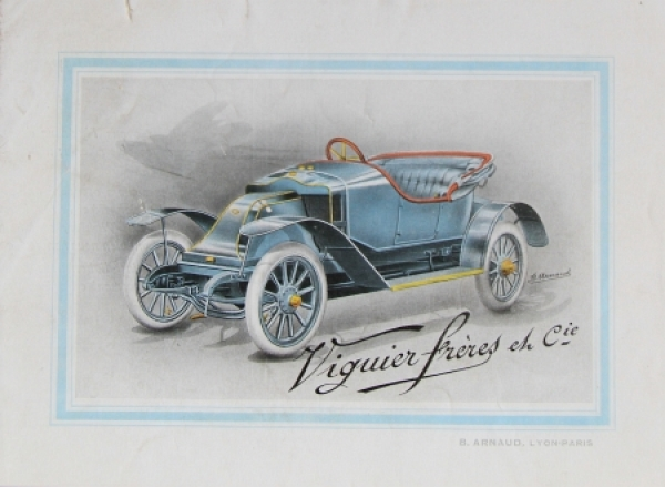 Viguier Freres Modellprogramm 1908 Automobilprospekt