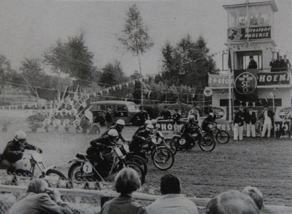 Motorrad Rennsport Originalfoto um 1960