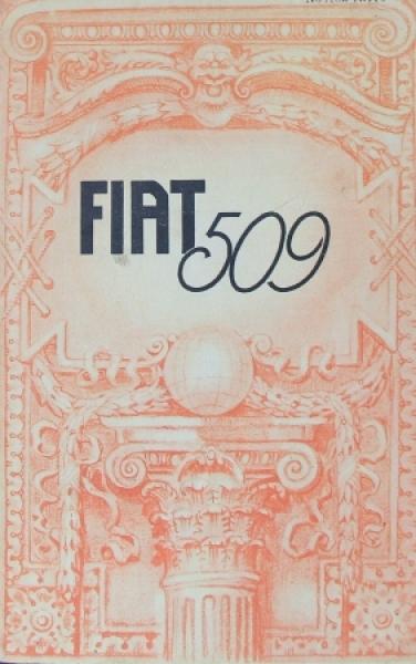 Fiat Model 509 Automobilprospekt 1928