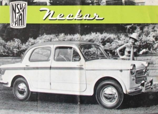 Fiat NSU Model Neckar Automobilprospekt 1959