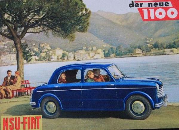 Fiat NSU Model 1100 Automobilprospekt 1954