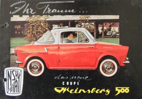 Fiat NSU Weinsberg Coupe 500 Automobilprospekt 1957