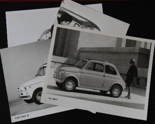 Fiat 500 D vier Werksfotos 1967