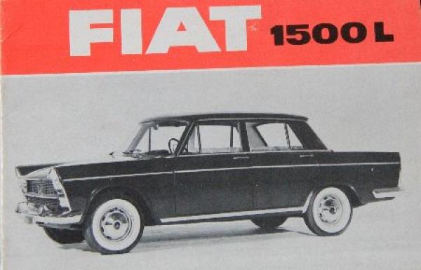 Fiat 1500 L Händlerpräsentations Katalog 1962