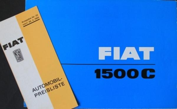 Fiat 1500 C Modellprogramm 1964 Automobilprospekt