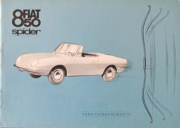 Fiat 850 Spider Händlerkatalog 1966