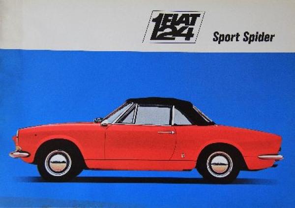 Fiat 124 Sport Spider Automobilprospekt 1967