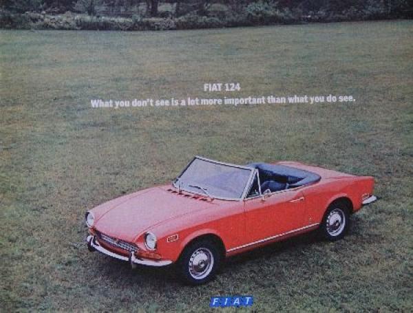 Fiat 124 Sport Spider Automobilprospekt 1970
