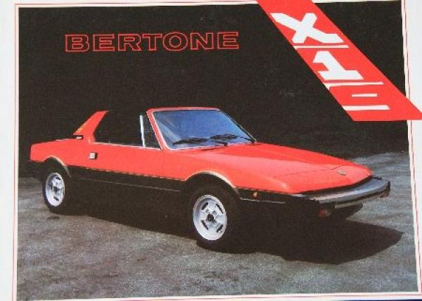 Fiat X 1/9 Bertone Automobilprospekt 1982
