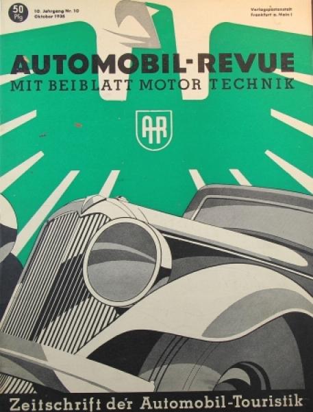 Automobil Revue Magazin 1935