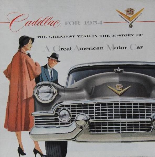 Cadillac Modellprogramm 1954 Automobilprospekt