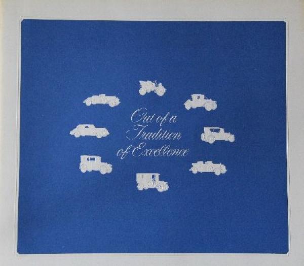 Cadillac Modellprogramm 1972 Automobilprospekt