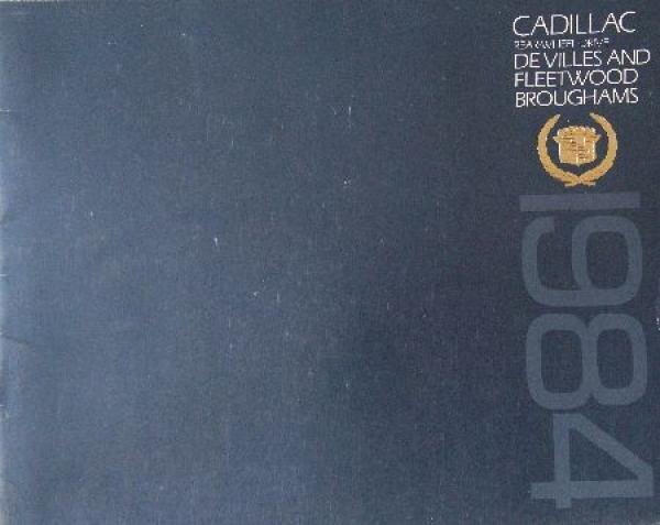 Cadillac Modellprogramm 1984 Automobilprospekt